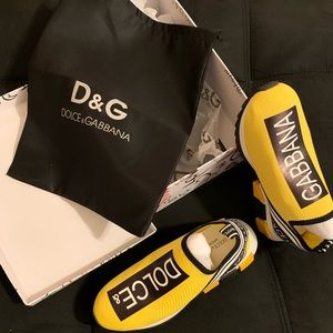 Dolce and Gabanna sorrento sneakers yellow size 37